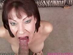 Vanessa Videl swallows lover`s spunk after hot blowjob.
