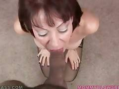 Vanessa Videl swallows lover`s spunk after hot blowjob.
